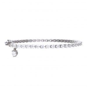 Diamonfire CZ Tennis Charm Bracelet