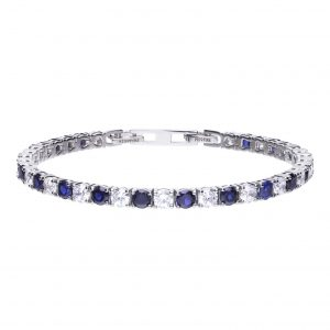 Diamonfire Blue and White CZ Tennis Bracelet