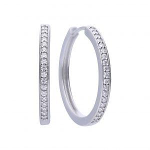 Diamonfire CZ Classic Hoop Silver Earrings